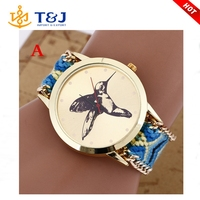 New style beautiful ladies bracelet watches handmade woven watch good quality