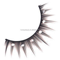 False eyelashes synthetic hair, eyelash diamond design, colored synthetic hair fake eyelashes