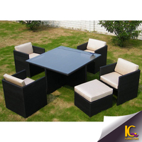 New classic furniture single sofa with glass table low price sofa set