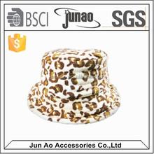 polar fleece beanie hat with animal pattern