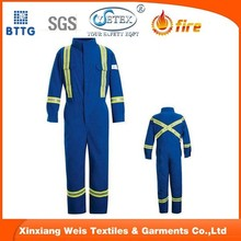 Royal Blue Aramid 3A fire retardant coverall used in firefighting