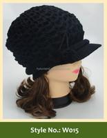 custom dobby black wool felt hat wool felt hat blank wholesale with brim