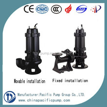WQ/QW submersible Sewage Water Pump with guide rail