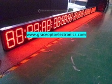 9 inch 6 digits outdoor led clock /time/date /temperature sign