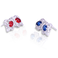 Pretty Girl Jewelry Wholesale in Yiwu China novelty products Silver Stud Earrings Crystal Earrings Micro-pave Stone Earring