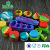 High quality customized small silicone jars dab wax container