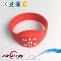 Europe style Dia 60mm RFID/NFC Silicone Wristband for Business Activity