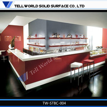 Modern solid surface marble bar counter top/ Commercial bar furniture/Led bar counter