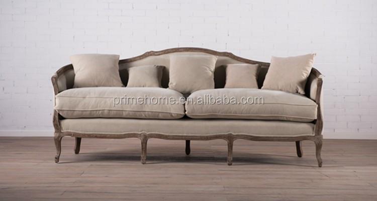 Franse houten woonkamer stof zitgroep classic vintage loveseat bank sex sofa stoel woonkamer - Sofa stijl jaar ...