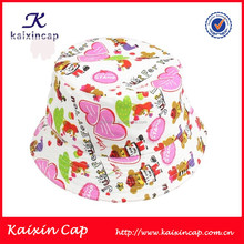 oem high quality digital printed cotton bucket hat child