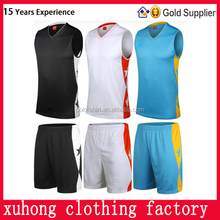 Shenzhen export products sport clothing sets south africa basketball jersey