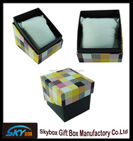 Latest ladies watch case, unique design of gift box packaging box for wholesale