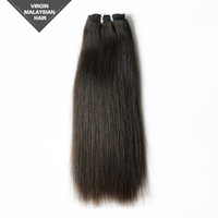 VV Fashion Style Extension Wholesale Factory Price 16 Inch Natural Straight Aliexpress Virgin Hair Malaysian Hair Weave