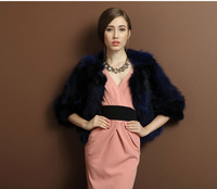 2014 Fashion Pure Color Raccoon Fur Coat/Wholesale And Retail