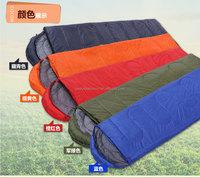 cheap polyester envelope sleeping bag with hood