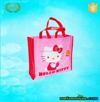 fashion nonwoven laminated hello kitty reusable shopping bag