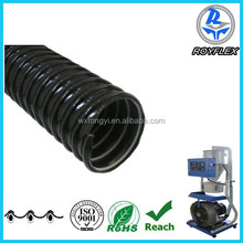 flexible black force tube pvc wired rigid hose