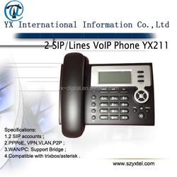sip desk phone voip telephone 2 lines,2 lines poe sip ip phone cheap phone,ip phone with poe+pstn