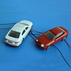 Diecast LED car light for architectural layout model car