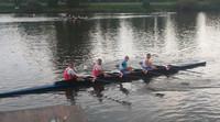 Fiberglass/carbon Fiber Racing Rowing Boat 4x/paddle Boat 4x