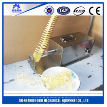 China professional spiral potato cutter machine/potato chip stick cutter
