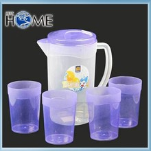 Novelty High Quality Plastic Cooler Water Jug Pitcher with Cups
