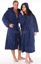 simple style coral fleece bathrobe for men and women