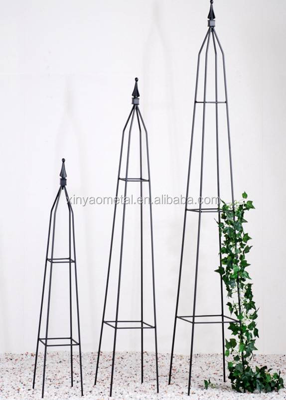 different colors plastic coating wrought iron garden decoration obelisks mini obelisks bs090017. Black Bedroom Furniture Sets. Home Design Ideas