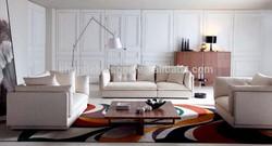 Modern White Color Noble Design Fabric 5 Seater Sofa Sets For Living Room Sofa Set