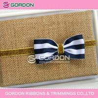 stripe printed ribbon packing bow/box ornament/organza ribbon wholesale