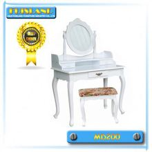 K\/D Dresser, Wooden Dressing Table with Stool, WHITE VINTAGE