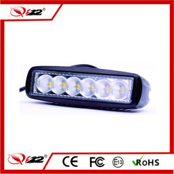 Factory Price 18W Car/Motorcycle LED mini work light,9-30V single led work light,18W 4x4 led light bar
