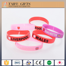 High quality printing thin silicone rubber wristband
