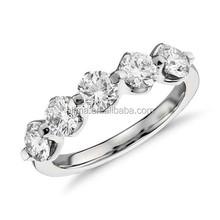 AGR0586 Platinum 950 Wedding Jewelry real moissanite diamond ring