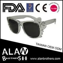 Kids Glass Frame Bow Tie Cat Eyes Eyewear Novelty Sunglasses