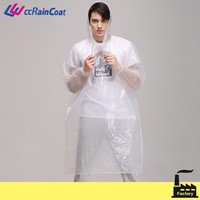 Quality Clear Raincoat and Rain Ponchos with Logo