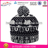 Fashion winter jacquard cap and hat small order knitted wool caps