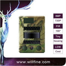 8MP 720P PIR motion detection no-glow 940nm mini wildlife trail camera for security hunting
