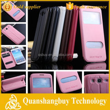 High quality cell phone window flip cover for Samsung Galaxy Mega 5.8 i9152 i9150 Case