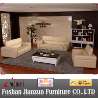 J1231 beige leather recliner sofa sets brown and beige leather sofa adjustable headrest sofa