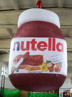 2015 Hot sale customized giant inflatable nutella chocolate cream jar for advertising