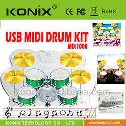 Colorful USB Colorful USB PC Desktop Digital Electronic Roll Up Drum Pad Kit MIDI