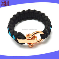 Updated style anchor swivel shackle,survival paracord bracelet shackle,metal adjustable shackle