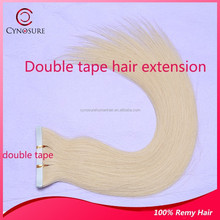High Quality Pure Indian Virgin double tape hair extension, No Split Ends