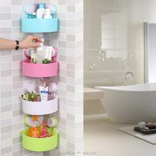 2015 NEW Multi layer DIY bath hanging organizer with suction cup, Corner organizer