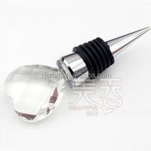 Crystal Glass Heart Shaped Bottle wine stopper, hear twine stopper SJ-JPS068