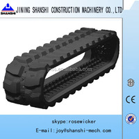 rubber track shoe, PC120-2 rubber track belt, rubber track chain for excavator and bulldozer