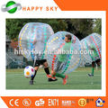 Caliente venta demostrar CE PVC / TPU rollo dentro de la bola inflable, burbuja soccer juegos, bolas de billar de parachoques