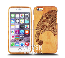Elephant Printing With Cherry Wood Design For Iphone Case 6