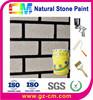 waterborne exterior building coating natural stone paint- imitation brick stone finish coating